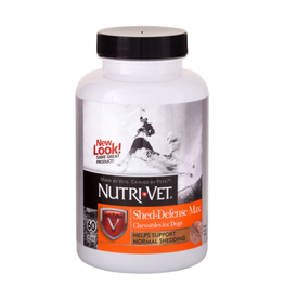 NutriVet Nutri-Vet Shed Defense Max Chews for Dogs 60ct - 12/cs