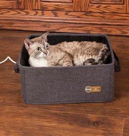 "K&H Thermo Basket Bed Gray 15x15"" 4 Watt"