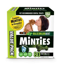 Minties Minties Maximum Mint Dental Bones TNY/SM 32 oz 80 ct