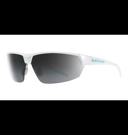 Native Eyewear Native Sunglasses Hardtop Ultra, Frame Pearl White, Lens N3 Gray