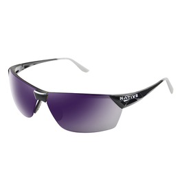 Native Eyewear Native Sunglasses Vigor AF, Frame Gloss Black Violet, Lens Violet Reflex