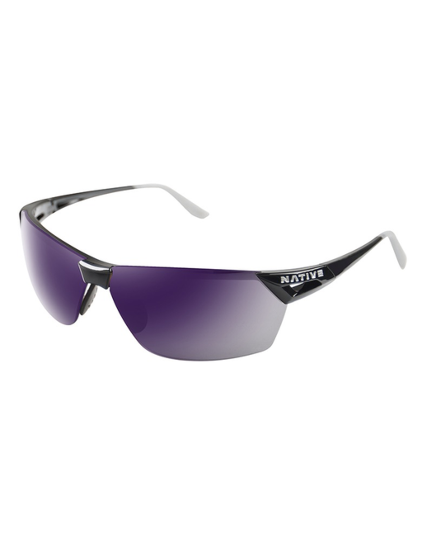 Native Eyewear Native Sunglasses Vigor AF, Frame Gloss Black Violet, Lens Violet Reflex