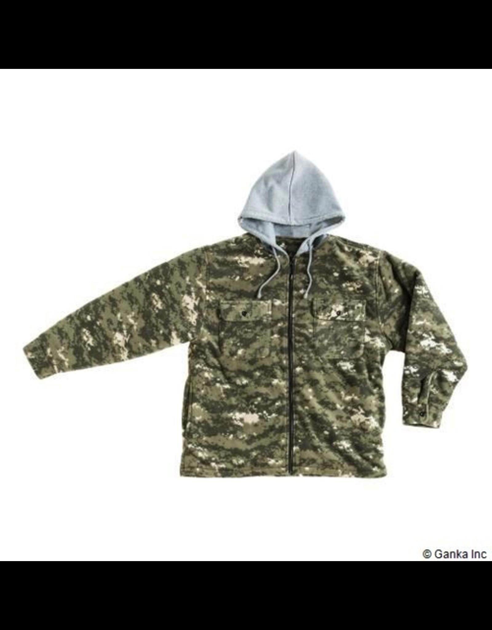 10/4 Job 10/4 Job Mens Shirt Jacket-Fleece-Hood-Sherpa
