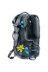 Deuter Deuter Traveller 60+10 SL Backpack, Black/Turquoise