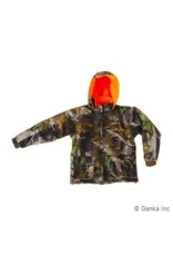 GKS GKS Youth Insulated Reversable Waterproof, Camoflauge/Orange Jacket