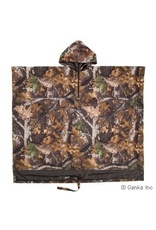 GKS GKS Mens Camo Waterproof/Breathable Hunting Poncho with Kangaroo Pouch