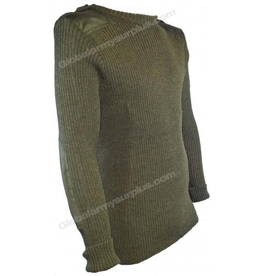 Olive Drab Wool Sweater