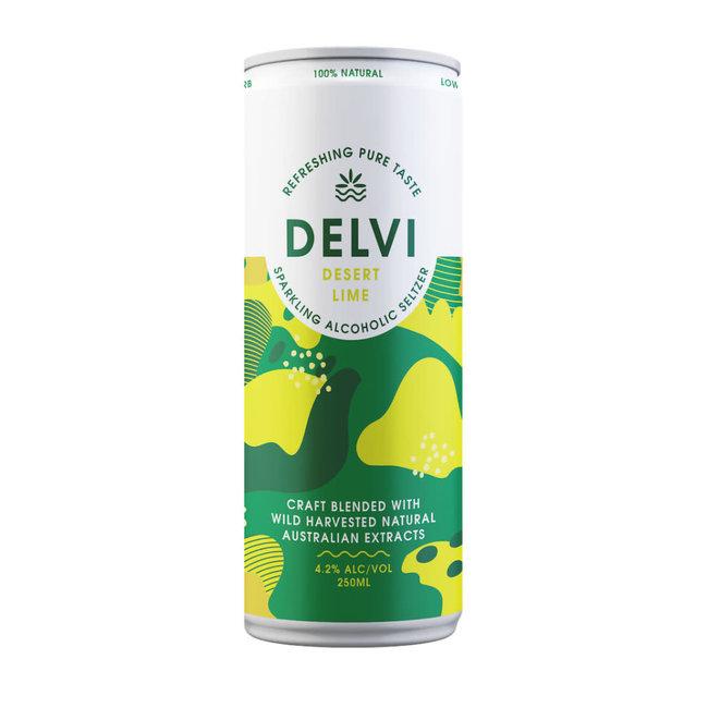 Delvi Desert Lime Seltzer 250ml
