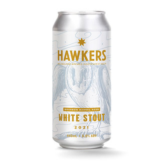 Hawkers Hawkers Bourbon Barrel Aged White Stout 2021 440ml