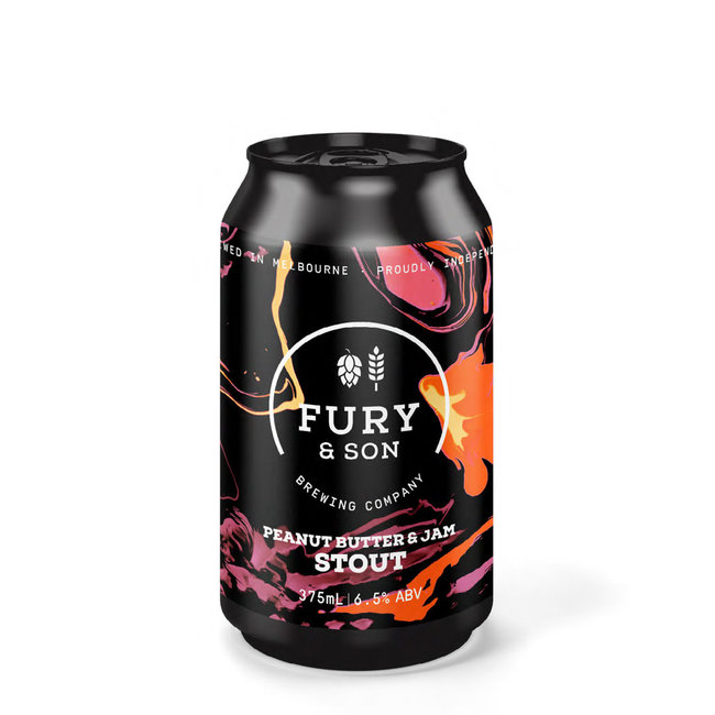Fury & Son Peanut Butter & Jam Stout 375ml Can