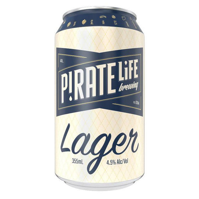 Pirate Life Port Local Lager 355ml Can