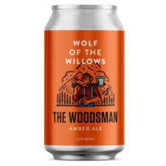 Wolf of the Willows Woodsman Amber Ale 355ml Can