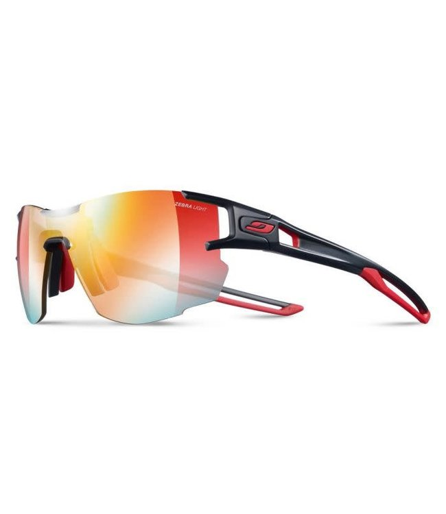 Julbo Julbo AEROLITE Sunglasses REACTIVE Zebra Light Lenses Black/Red