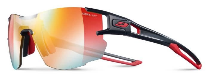 2804f25bbe Julbo AEROLITE Sunglasses REACTIVE Zebra Light Lenses Black Red