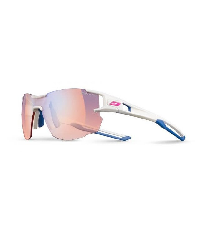 84485b8509 Julbo Julbo AEROLITE Sunglasses REACTIVE Zebra Light Red Lenses White/Blue