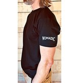 "Next Level Mens Crew T-shirt ""Nomadic"" Sleeve Logo"