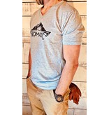 Next Level Mens V-neck Crew T-shirt Full Chest Logo