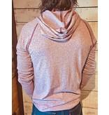Unisex Mock Twist Raglan Hoodie Sweatshirt