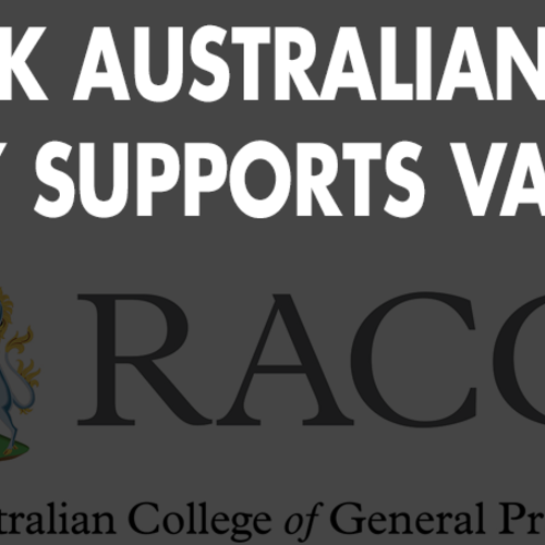 Peak Australian GP Body Supports Vaping -  January 28, 2020