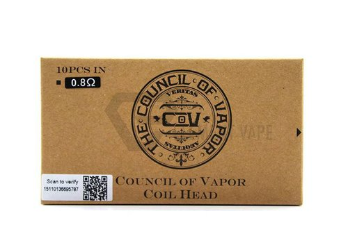 The Council of Vapor - Coils 0.8 - 10 Pcs