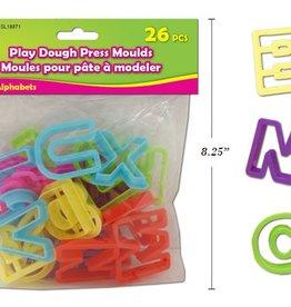 26 Press Clay Moulds Alphabets