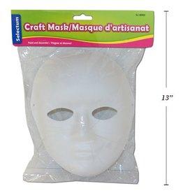Paper Mache White Mask/Pkg