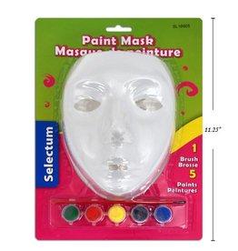 Plastic Paint Mask With 5 Paint Colors + Brush