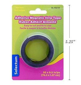 "Adhesive Magnetic Strip Tape 30""X0.5"""