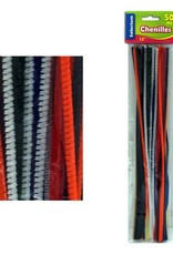 "12"" Chenilles Asst Colors, 50/Pkg 4Mm Thickness"