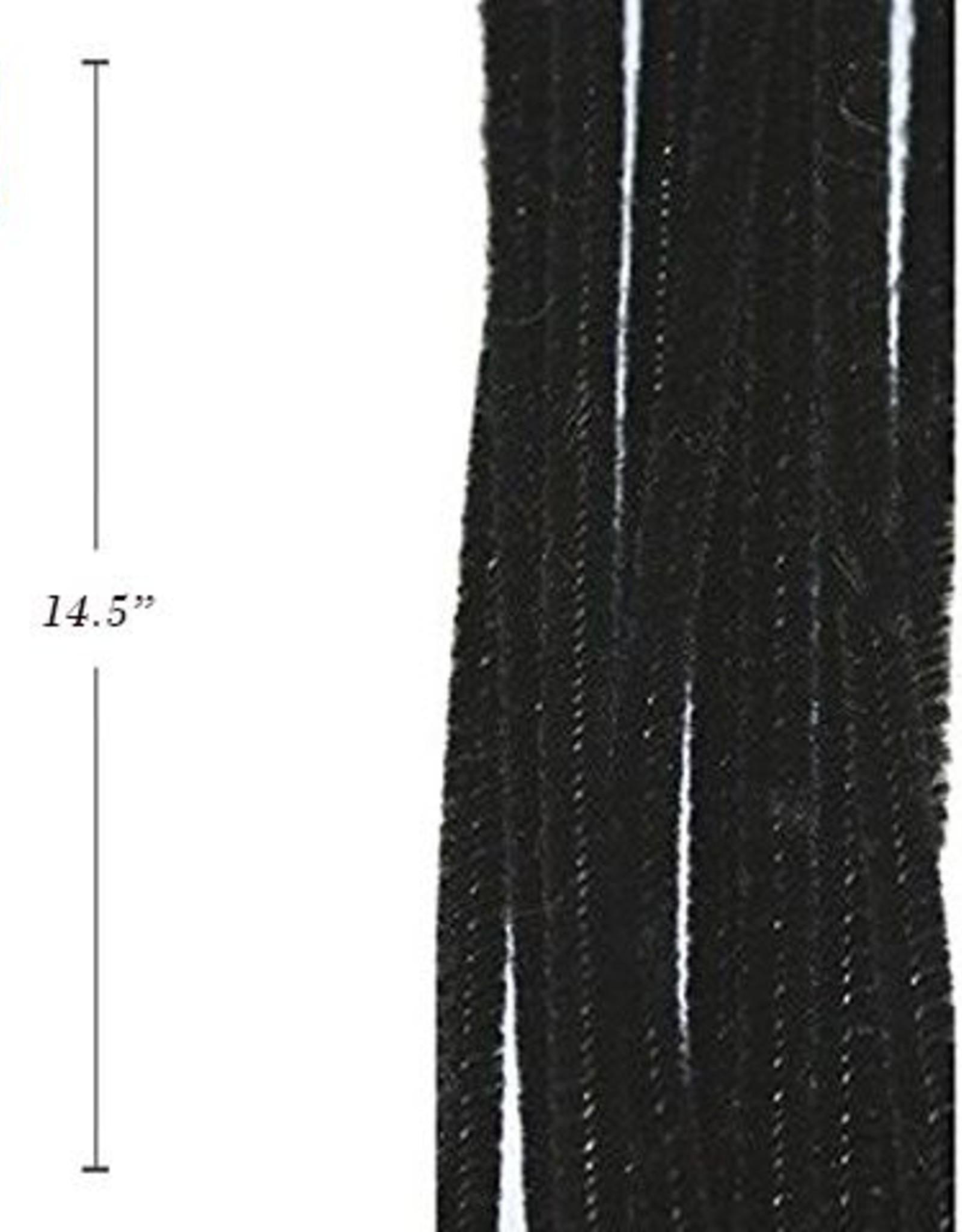 "12"" Chenilles Black 40/Bag 4Mm Thickness"
