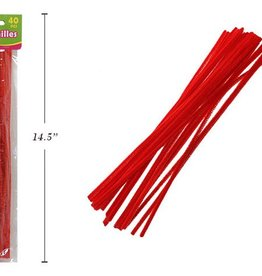 """12"""" Chenilles Red 40/Bag 4 Mm Thickness"""