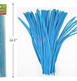 "12"" Chenilles Light Blue 40/Bag 4Mm Thickness"