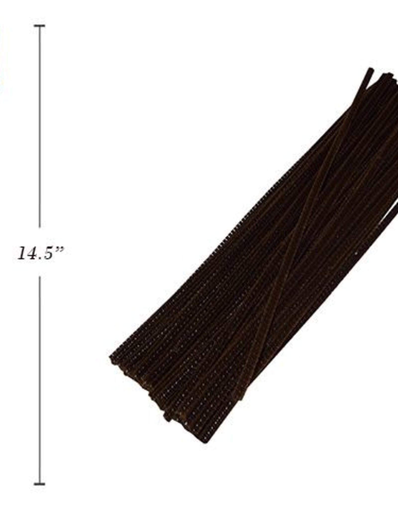 """12"""" Chenilles Dark Brown 40/Bag"""