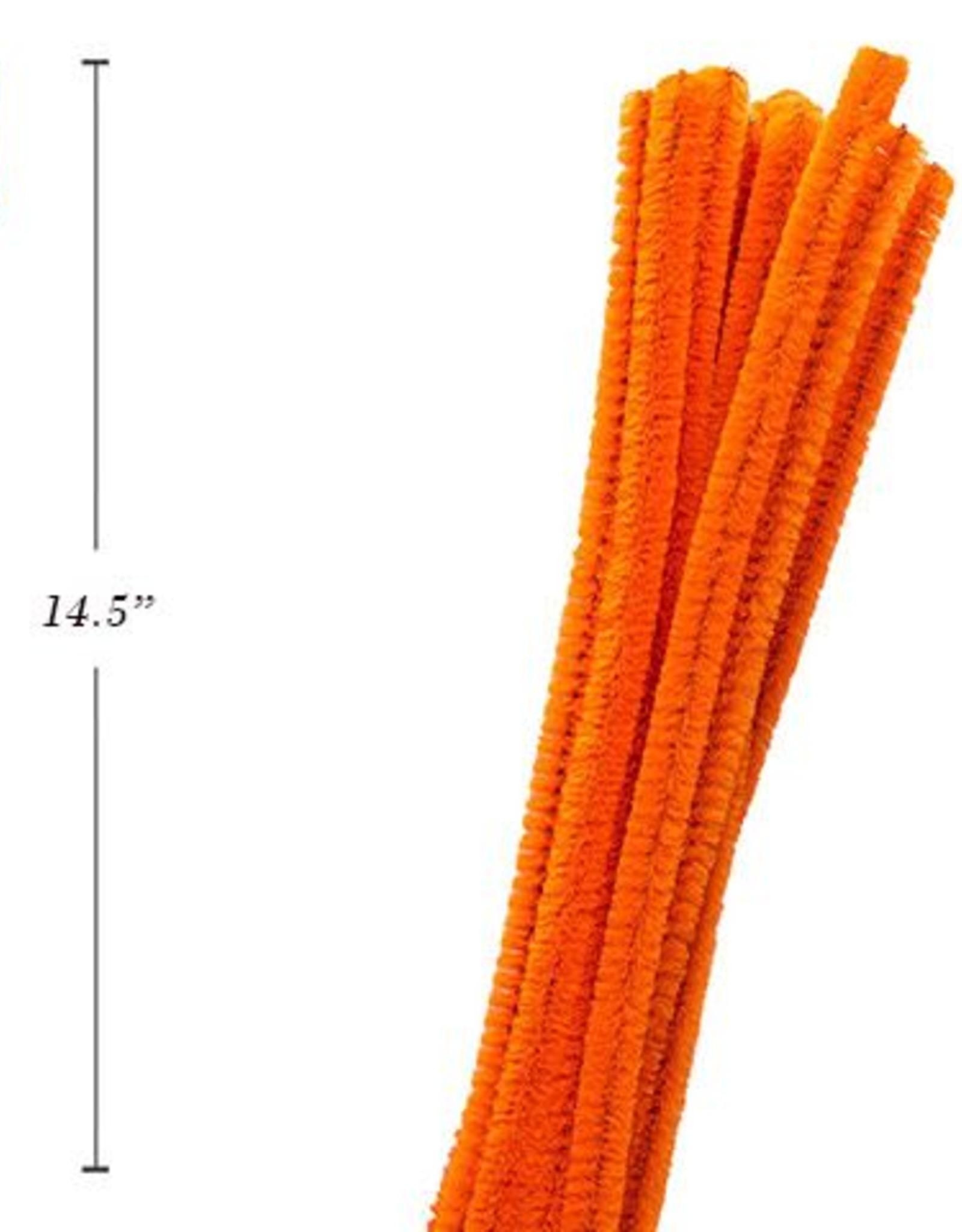 "12"" Chenilles Orange 40/Bag 4 Mm Thickness"