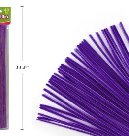 """12"""" Chenilles Purple 40/Bag 4 Mm Thickness"""