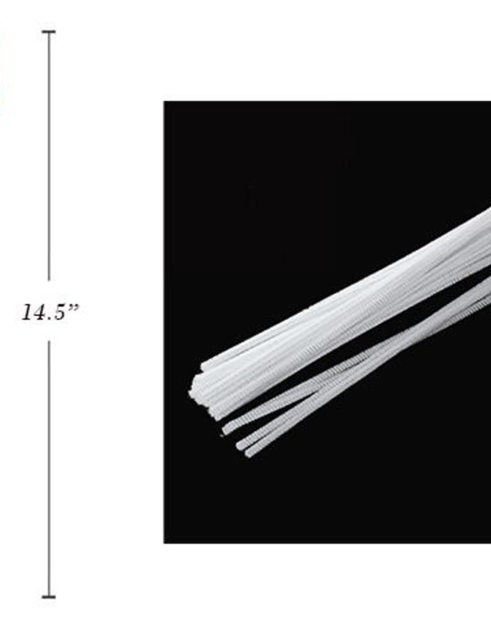 "12"" Chenilles White 40/Bag 4 Mm Thickness"