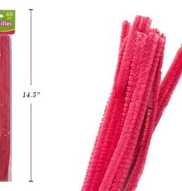 """12"""" Chenilles Pink 40/Bag 4 Mm Thickness"""