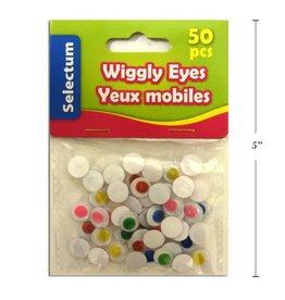 Wiggly Eyes Asst Colours, 10Mm 50/Bag