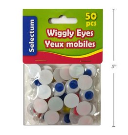 Wiggly Eyes Asst Colours, 15Mm Size 50/Bag