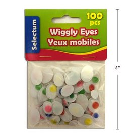 Wiggly Oval Shape Eyes Asst Col & Sizes 100/Bag