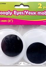 "Selectum 1 Set Googly Eyes 80Mm (3"") Black & White"