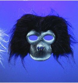 Plush Gorilla Mask Black
