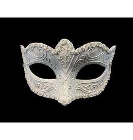 Venetian Plastic Mask Small Size White