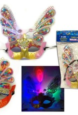 9-7/8In B/O 3-Led 3-Functions Light-Up Sequin Mask