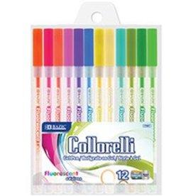 12 Fluorescent Colour Collorelli Gel Pen