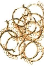 Chandelier Earring(10 Pieces) Gold Nickel Free 23 Mm