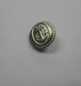 Sailor Anchor Buttons 15Mm - Silver (6 Pcs)