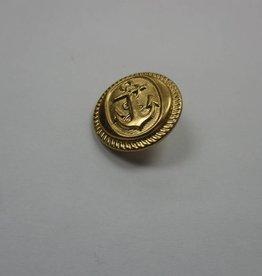 Sailor Anchor Buttons 15Mm - Gold (6 Pcs)