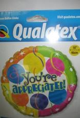 Qualatex You'Re Appreciated  Super Foat 18 Inches
