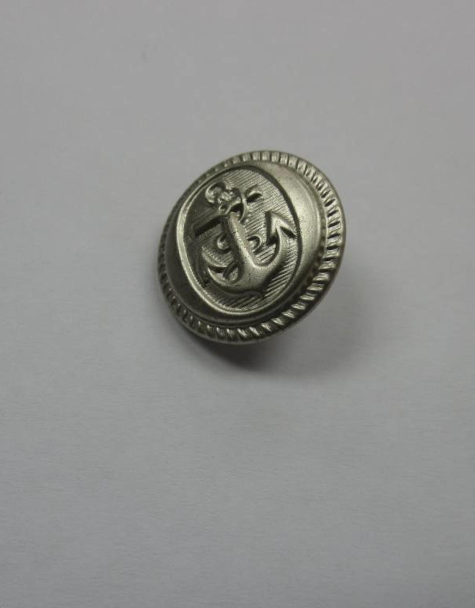 Sailor Anchor Buttons 15Mm - Silver (Gross)